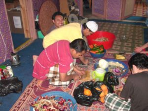 Ustaz Hafiz berlakon potong bawang